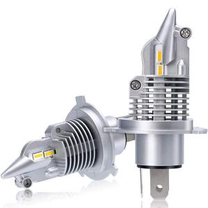 1円~送料無料!H4 LEDヘッドライト Hi/Lo 車検対応 車/バイク用 16000LM 12V/24V(ハイブリッド車・EV車対応) ホワイト 6500K LEDバルブ