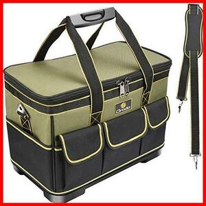 ★色:グリ-ン★ Drado ツールバッグ 工具バッグ 工具袋 道具袋 工具差し入れ 肩掛けベルト付き 大口収納 1680Dオックスフォード