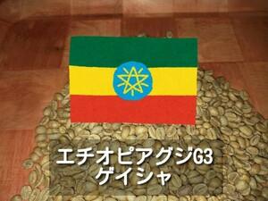エチオピア グジ ゲイシャG3 コーヒー生豆 800g