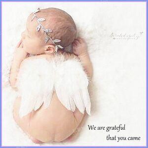 天使変身セット ニューボーンフォト ベビー 天使の輪 髪飾り 記念撮影 寝相アート おひるねアート 新生児 赤ちゃん 羽根 ホワイト 白