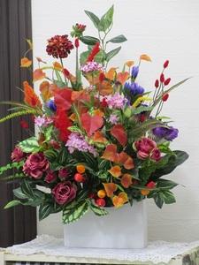 ☆ラビアンローズ☆紅葉 のどかな秋の日に~☆アーティフィシャルフラワー 造花☆インテリア 装飾品