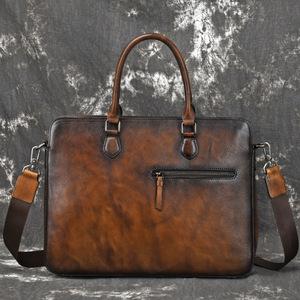 職人手作り 牛革 ハンドメイド メンズ 本革 ビジネスバッグ ブリーフケース レザー 通勤鞄 トート 手提げバッグ A4サイズ対応AMWYY-MB-252