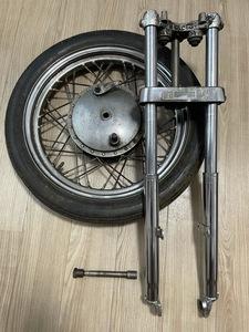ハーレー 33.4mmフォーク ハンバーガードラム付きホイール フロントエンド ショベルスポーツアイアンKモデルショベルナックルパン
