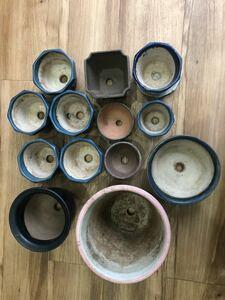 古美術 いろいろ まとめて植木鉢 盆栽鉢 丸鉢 紫砂 古鉢 盆器 ミニ盆栽 小品盆栽
