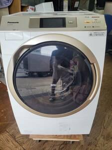 直接引取り可能 東京発【1円~】2017年製 美品 Panasonic 11kg 温水洗浄「においスッキリ」コースドラム式洗濯乾燥機【NA-VX9700R】
