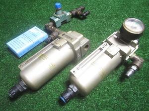 京飯g985 SMC■フィルタレギュレーター エアレギュレーター(AW40-03DG-2R)圧力0.05~0.85Mpa (AFM40-03D-2R)最高圧力(1.0Mpa)★2点セット
