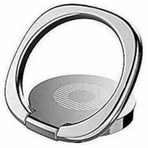 ★即決★送料無料★スマホ ホールド リング バンカーリング 指輪リング 片手操作 360度回転 薄型 スタンド機能 落下防止 ホルダー シルバー