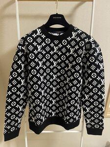 ルイヴィトン 20SS フルモノグラム ジャカードスウェットシャツ Lサイズ