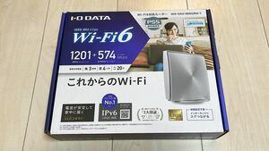 未使用に近い Wi-Fiルーター WN-DAX1800 Wi-Fi6対応 IPV6対応