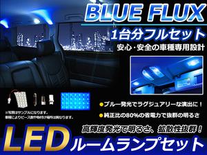 高級感のあるブルータイプ◎LEDルームランプセット マツダ プレマシー CR系 H17.2~H22.6 車1台分フルセット BLUE/FLUX 青 34発