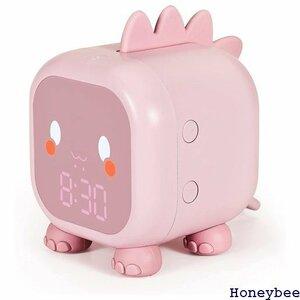 ☆ 子供 ピンク 1500Ahバッテリー日本語説明書付け 定が簡単 温度表示 デジタル 置き時計 大音量 恐竜 光 176