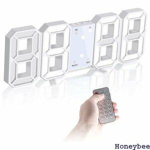 ☆ デジタル時計 アラーム3組 スヌーズ機能 目覚まし時計 CLOCK 計 3D 壁掛け時計 明るさ調節 LED時計 244