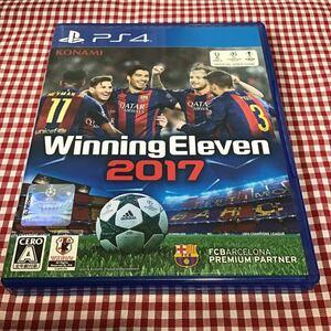 used PS4 「 ウイニングイレブン2017 」解説書はオンライン / 外ケースパッケージスレあり / Winning Eleven ウイイレ