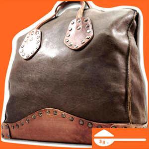 即決★N.B.★オールレザートートバッグ 本革 本皮 ブラウン 茶 ハンドバッグ レトロ レディース メンズ ハンドバッグ かばん 鞄 B559 3g.