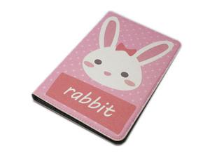 iPad Mini 5 iPad Mini 4 兼用 手帳型 フリップ 横開き PU かわいいカード入れ スタンド アイパッド ミニ 4/5 ケース カバー ラビット