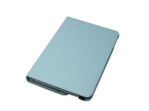 iPad Mini 5 iPad Mini 4 兼用 手帳型 フリップ 合皮 合成皮革 360度回転 スタンド アイパッド ミニ 4/5 ケース カバー スカイブルー