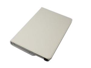 iPad Mini 5 iPad Mini 4 兼用 手帳型 フリップ 合皮 合成皮革 360度回転 縦横置可スタンド アイパッド ミニ 4/5 ケース カバー ホワイト