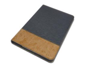 iPad Mini 5/Mini 4 兼用 手帳型 フリップ 合皮 合成皮革 フェイクレザー スタンド アイパッド ミニ 4/5 ケース カバー グレーグリーン