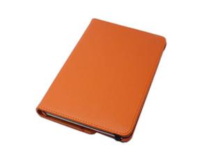 iPad Mini 5 iPad Mini 4 兼用 手帳型 フリップ 合皮 合成皮革 360度回転 縦横置可スタンド アイパッド ミニ 4/5 ケース カバー オレンジ