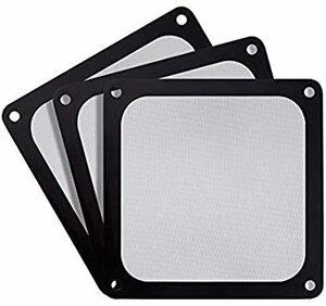 ブラック 12cm SilverStone PC ケースファン 防塵 マグネット メッシュ ファン フィルター 120mm 用
