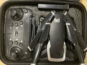 1円多機能飛行機 超長続航 バッテリー2個 ドローン カメラ付き 収納ケース付き 4K HD 重力感知 ングキャリーケース- 黒色二つカメラ飛行機
