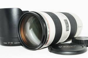 ★超美品★ Canon キヤノン EF70-200mm F2.8 L USM レンズ 【憧れの白レンズを格安で大放出!光学は驚愕のクリアさ♪】 /管理番号12341