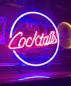 USA カクテル ネオン管 ビンテージ ライト ネオン サイン 壁掛け スタンド 電飾 電光 看板 アメリカン ダイナー ガレージ バー レトロ 雑貨