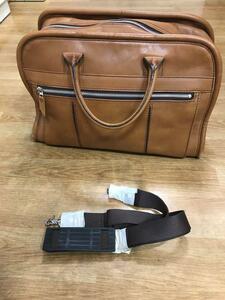 ビジネスバッグAOKI LUGGAGE 青木鞄旅行かばんブラウン レザーボストン