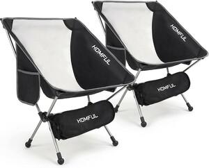 アウトドア チェア キャンプ 椅子 折り畳み 耐荷重 100kg 収納バッグ付き 2 セット