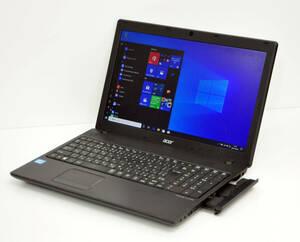 Win11 OK ! 良品 ! 大画面15.6インチ ACER TRAVELMATE P453 Corei5-3230M 2.6GHz/メモリ8GB/HDD 500GB/カメラ/無線/テンキー付/Win11Pro64