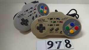 ニンテンドー 任天堂 Nintendo SFC スーパーファミコン ゲーム コントローラー ASCII アスキーパッド AS-131-SP 2個 セット 中古 送料無料