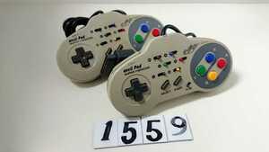 任天堂 Nintendo Nintendo スーパーファミコン SFC 連射 コントローラー ASCII アスキーパッド AS-131-SP 2個 セット 中古