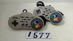 Nintendo ニンテンドー 任天堂 SFC スーファミ スーパーファミコン ゲーム 連射 コントローラー ASCII アスキーパッド AS-131-SP 2個 中古
