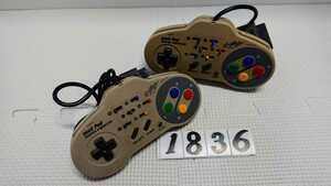 任天堂 Nintendo ニンテンドー スーパーファミコン SFC 連射 コントローラー ASCII アスキーパッド AS-131-SP 2個 セット 中古
