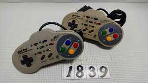 任天堂 ニンテンドー Nintendo スーパーファミコン SFC 連射 コントローラー ASCII アスキーパッド AS-131-SP 2個 セット 中古