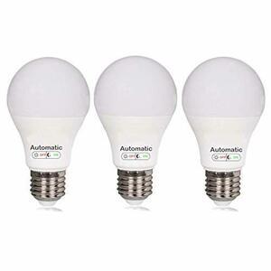 BAOMING 電球色 2700K 明暗センサー7W-3個セット電球色 LED電球 センサーライト センサー 電球