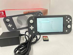 C-42771M 【中古品】 Nintendo Switch Lite 本体 グレー ニンテンドースイッチライト + モンスターハンター ゲームソフト 2点セット