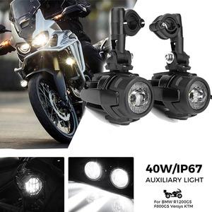 オートバイのフォグランプbmw R1200GS adv F800GS F700GS F650GS K1600 led補助フォグライトassemblie駆動ランプ 40 ワット