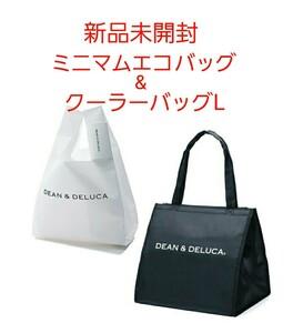 DEAN & DELUCA ミニマムエコバッグ クーラーバッグ L ブラック 2点セット