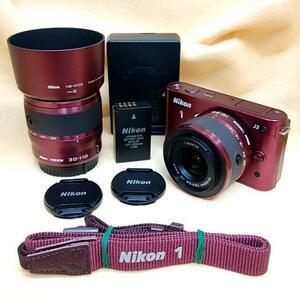 【hzu647】☆★新品 未使用★☆【美品】ミラーレス Nikon 1 J2 ダブルズームキット
