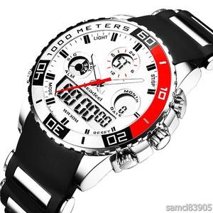 【特価】海外人気ブランド 新作 日本未発売 メンズスポーツ腕時計 クロノグラフ 新品 女ウケ モテ レッド