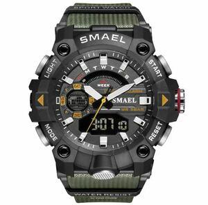 ◆ ミリタリー ウォッチ メンズ スポーツ 防水 腕時計 ストップウォッチ アラーム ledライト デジタル腕時計 メンズスポーツ時計 1741