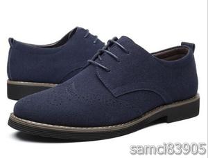 【特価】新品 メンズ ブローグシューズ レースアップ スエード カジュアル クラシック 紳士靴