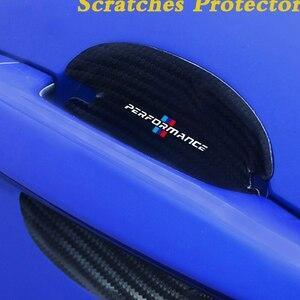 ◆4枚組 車ドアハンドル保護フィルム 3Dカーボン傷防止ステッカーBMW m E90-E93 M3 E60 E61 F10 F07 M5 M6 M7 X4 X5 X1 E30 E39 E46■S1302
