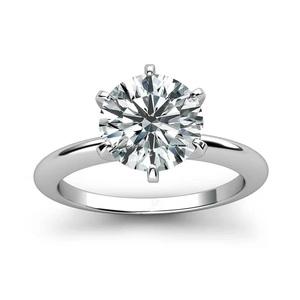 ◆最高級★大粒3ctモアサナイトダイヤモンドリング 925スターリングシルバーリング モアッサナイト指輪 女性プレゼントギフト■S1255