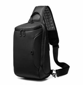 【本日限定セール】ZARA系 海外ブランド USBポート ボディバッグ ワンショルダー 肩掛け メンズバッグ 大容量 黒