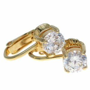 A7290◆【AVON】◆ ダイヤモンド風1粒キュービックジルコニア ◆ ヴィンテージイヤリング ◆