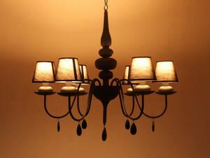 ◆IDC大塚家具 IDEAL LUX イデアル ルクス 6灯 シャンデリア 照明 ライト ランプ クラシカルヴィンテージアンティーク洋館/KIT28247◆