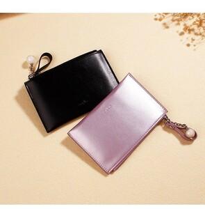 パスケース カード 小銭入れ コイン ミニポーチ PU 本革 多機能 Sweet 財布 コインケース