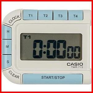 CASIO(カシオ) デジタルタイマー カウントダウン ストップウォッチ マグネット 付き ホワイト TMR-71S-7JH